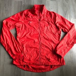 Nike • Women's Red Wind Breaker Rain Jacket